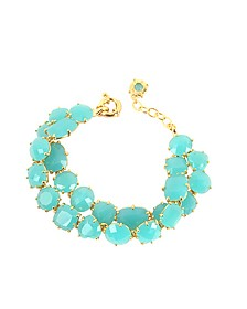 La Diamantine Turquoise Double Bracelet