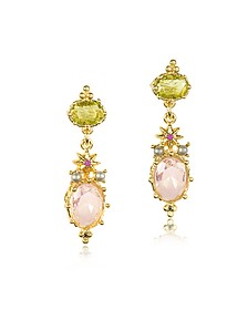 Dazzling Discretion Faceted Glass Drop Earrings