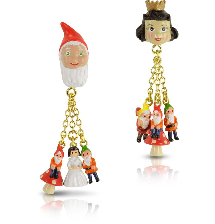 Snow White's and the 7 Dwarves Earrings  - N2