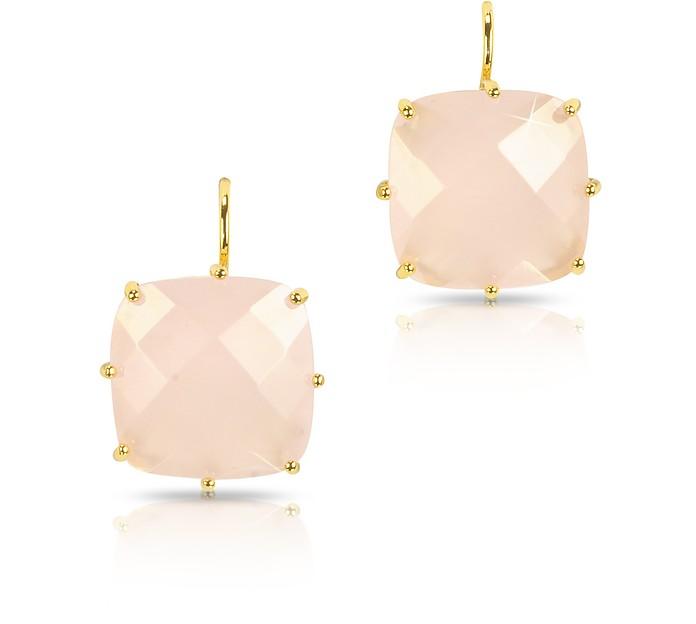 La Diamantine Large Squared Drop Earrings - Les Nereides