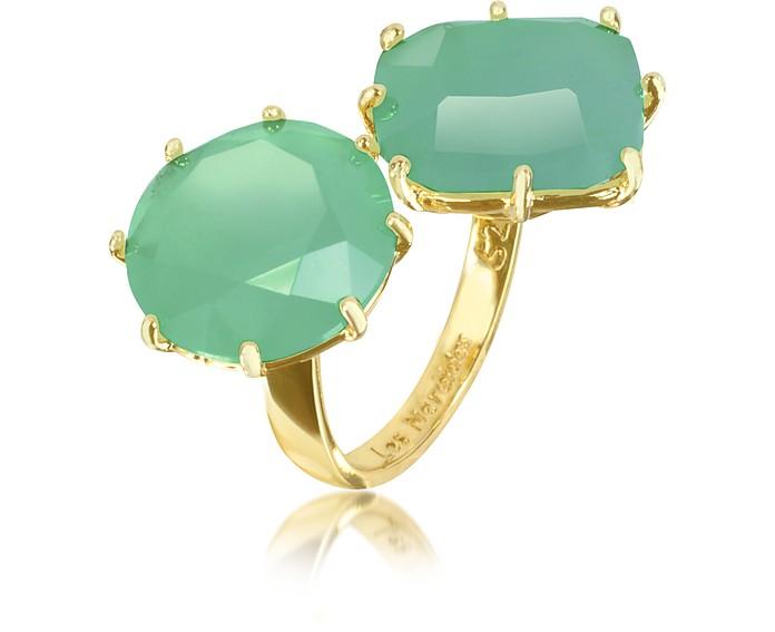La Diamantine 'You and I' Emerald Green Ring - Les Nereides