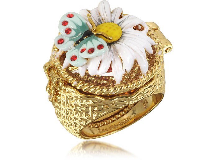 Champetre Daisy, Butterfly and Ladybug Secret Ring - Les Nereides