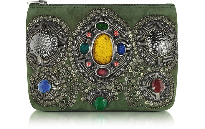 Byzance Embroidered Pouch Wallet - Antik Batik