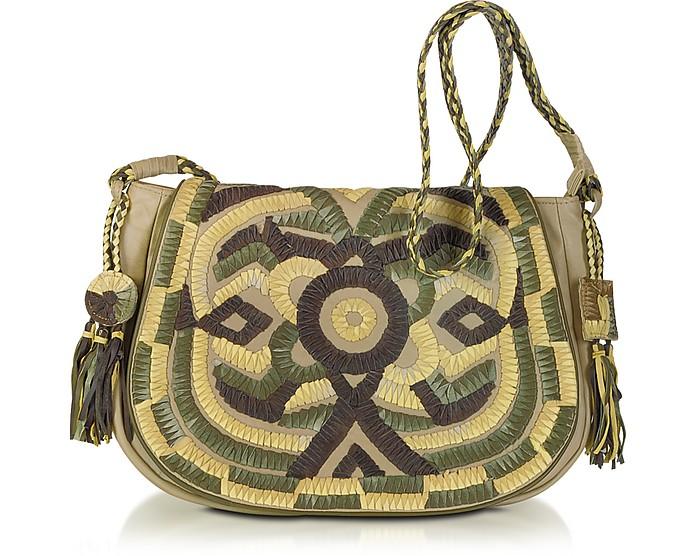 619d658387 Antik Batik Sun Large Woven Leather Shoulder Bag at FORZIERI