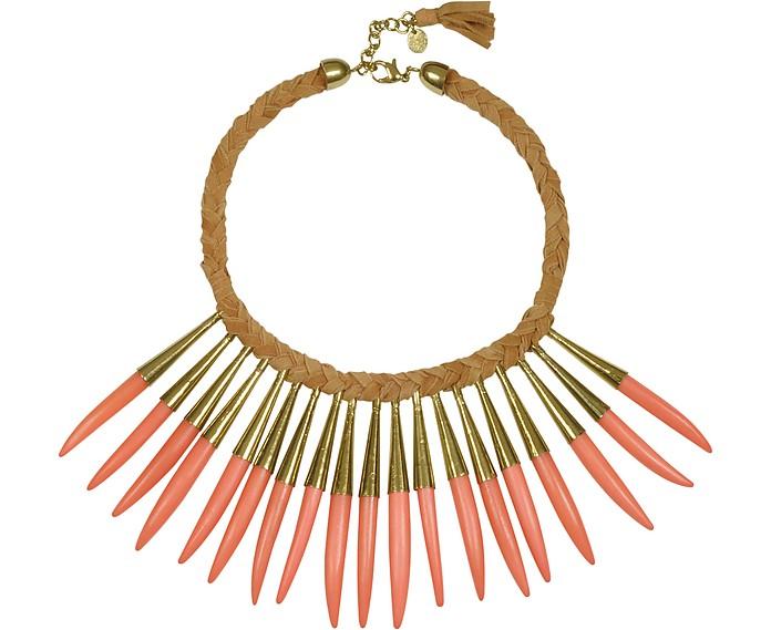 Noli Leather and Metal Necklace - Antik Batik