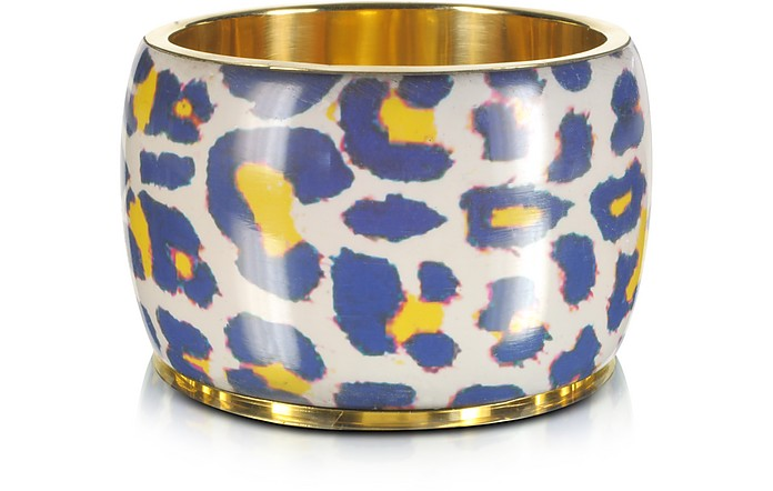 Arly Animal Print Resin Bangle - Antik Batik