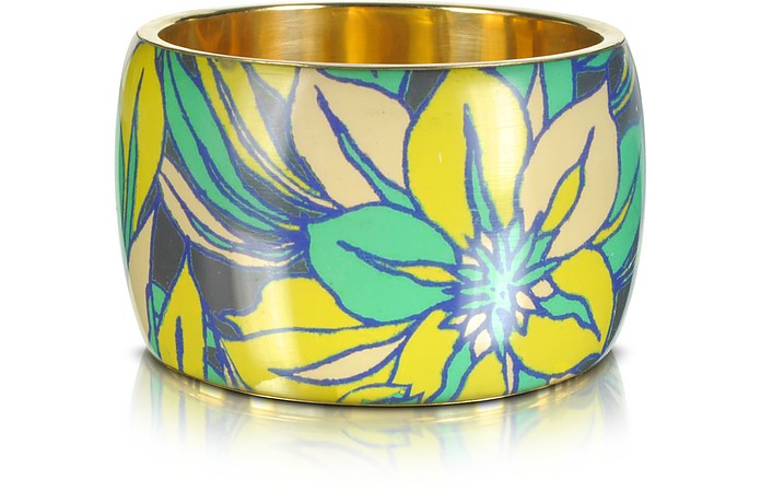 Delphi Multicolor Resin Bangle Bracelet - Antik Batik