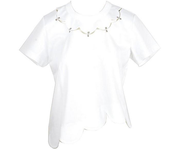 Women's White T-Shirt - Noir Kei Ninomiya Comme Des Garcons