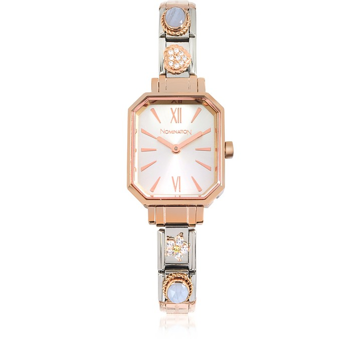 Rose Gold Plated Stainless Steel Composable Women's Watch - Nomination