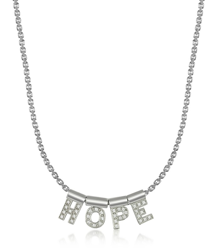 Sterling Silver and Swarovski Zirconia Hope Necklace - Nomination