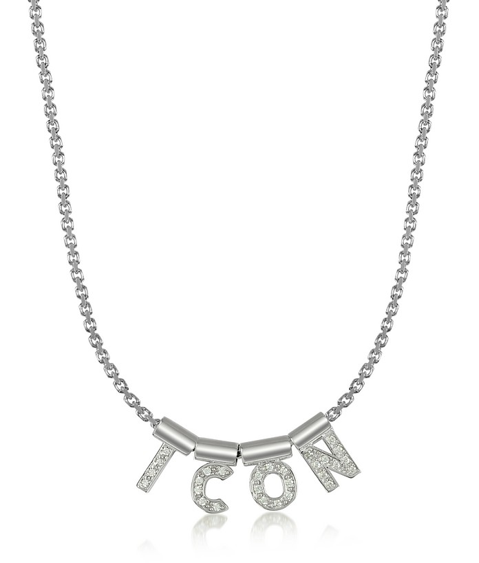 Sterling Silver and Swarovski Zirconia Icon Necklace - Nomination