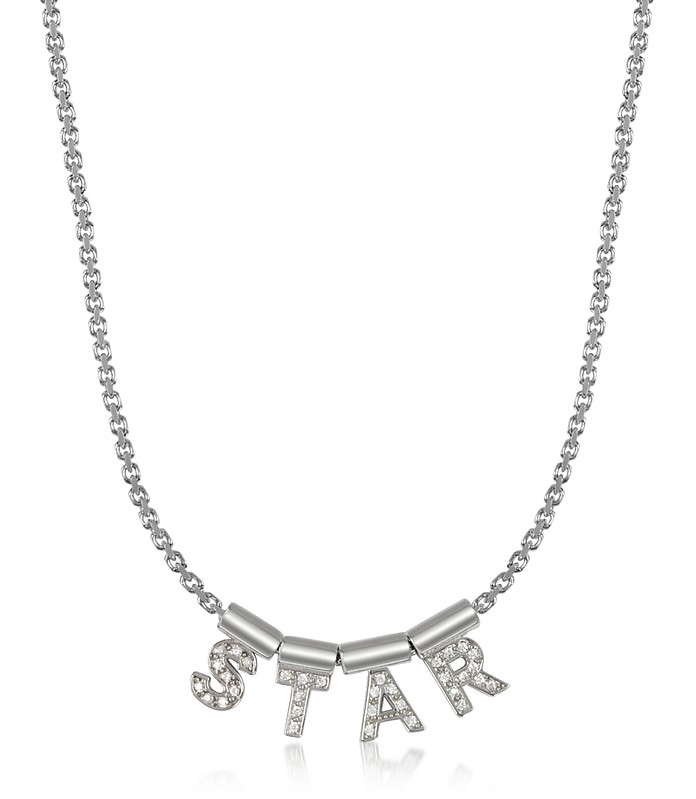 Sterling Silver and Swarovski Zirconia Star Necklace - Nomination