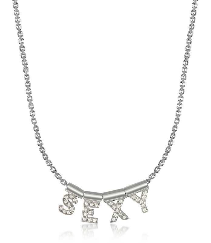 Sterling Silver and Swarovski Zirconia Sexy Necklace - Nomination