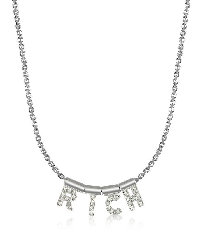 Sterling Silver and Swarovski Zirconia Rich Necklace - Nomination