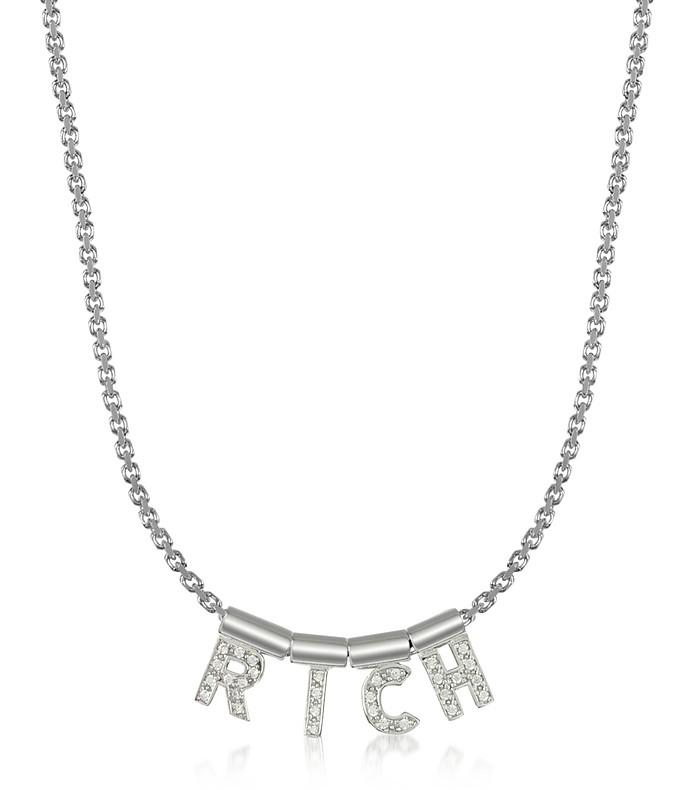 Sterling Silver and Swarovski Zirconia Rich Necklace - Nomination