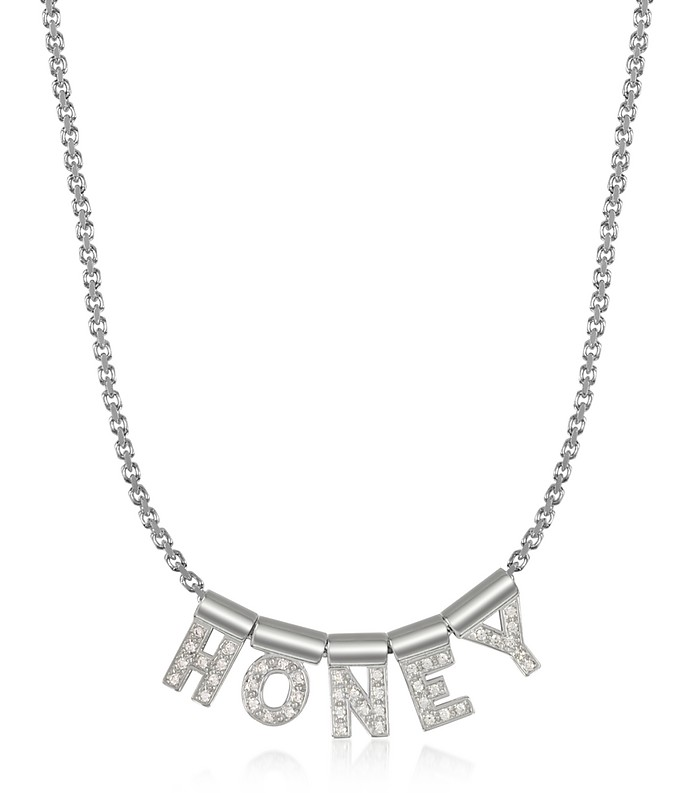 Sterling Silver and Swarovski Zirconia Honey Necklace - Nomination