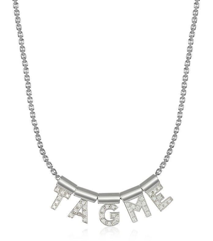 Sterling Silver and Swarovski Zirconia TagMe Necklace - Nomination
