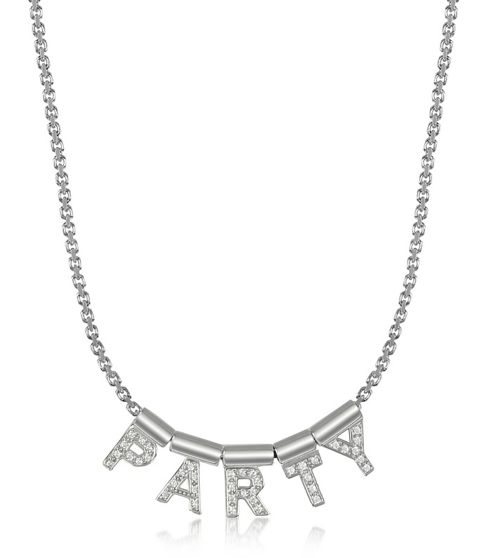 Sterling Silver and Swarovski Zirconia Party Necklace - Nomination