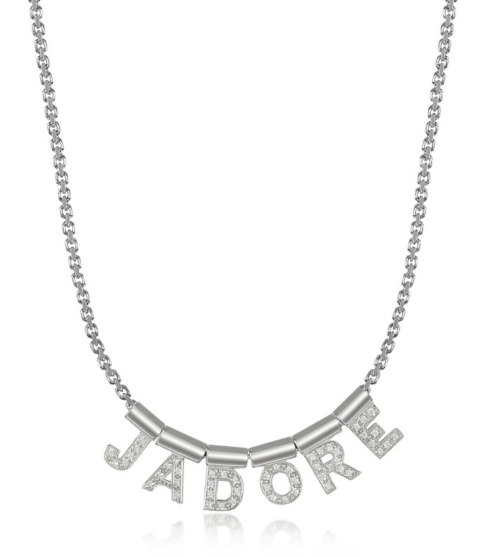 Sterling Silver and Swarovski Zirconia Jadore Necklace - Nomination