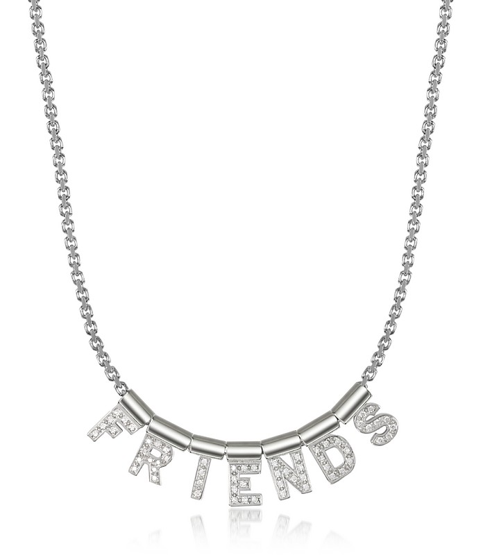 Sterling Silver and Swarovski Zirconia Friends Necklace - Nomination / ノミネーション