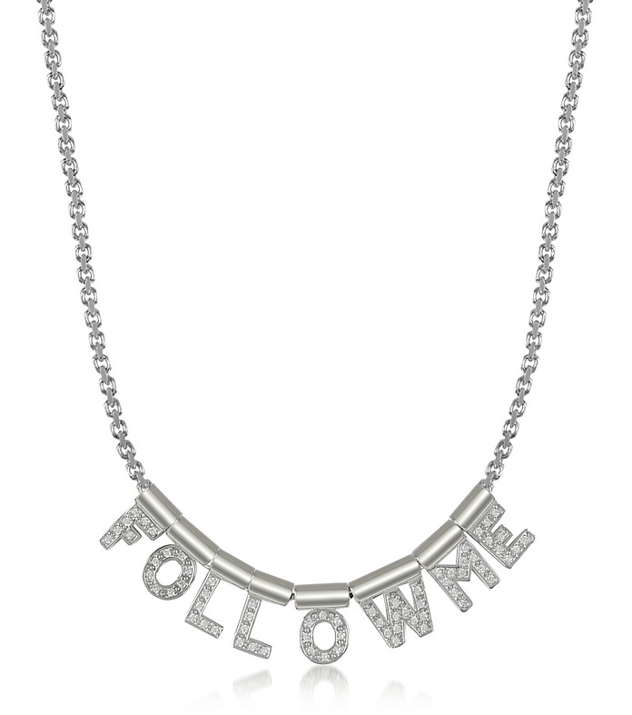 Follow Me Collier en Argent et Zirconiums Swarovski - Nomination