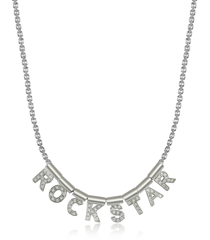 Sterling Silver and Swarovski Zirconia Rockstar Necklace - Nomination