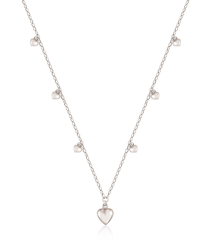 Sterling Silver Mini Hearts Charm Necklace - Nomination