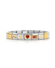Classic I Love Dance Gold and Stainless Steel Bracelet - Nomination