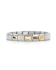 Classic I Love Barca Gold and Stainless Steel Bracelet - Nomination