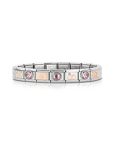 Classic Amore Rose Gold and Stainless Steel Bracelet w/Gemstone - Nomination