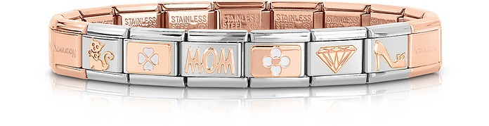 Classic Mom Rose Gold and Stainless Steel Bracelet - Nomination / ノミネーション