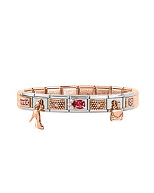 Classic Couture&Charms Rose Gold and Stainless Steel Bracelet w/Cubic Zirconia - Nomination