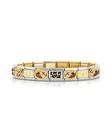 Classic Elegance Gold and Stainless Steel Bracelet w/Gemstone - Nomination