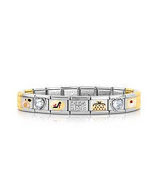 Classic Très Chic Golden Stainless Steel Bracelet w/Crystals - Nomination