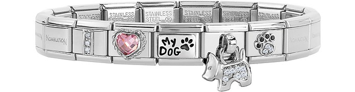 Classic I Love My Dog Stainless Steel Bracelet w/Charm - Nomination
