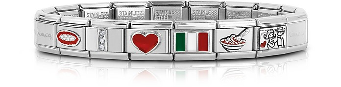 Classic That's Italy Sterling Silver and Stainless Steel Bracelet - Nomination