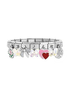 Classic Sweet Charms Sterling Silver and Stainless Steel Bracelet - Nomination