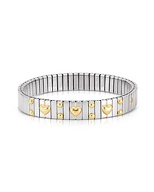 Amore Stainless Steel w/Golden Heatrs Women's Bracelet - Nomination