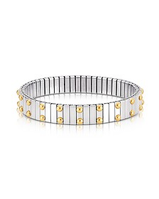Beads Stainless Steel w/Golden Studs Women's Bracelet - Nomination