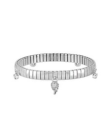 Stainless Steel Women's Bracelet w/Sterling Silver Wing and Cubic Zirconia - Nomination