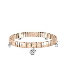 Rose Gold PVD Stainless Steel Women's Bracelet w/Charms and Cubic Zirconia - Nomination