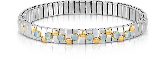 Stainless Steel Women's Bracelet w/Blue Topaz Beads - Nomination