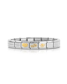 My Angel and Wings Golden Stainless Steel Bracelet w/Cubic Zirconia - Nomination