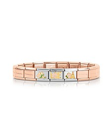 La Vie en Rose Rose Gold PVD Stainless Steel Bracelet - Nomination
