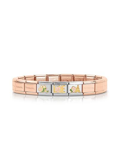 La Vie en Rose Rose Gold PVD Stainless Steel Bracelet - Nomination