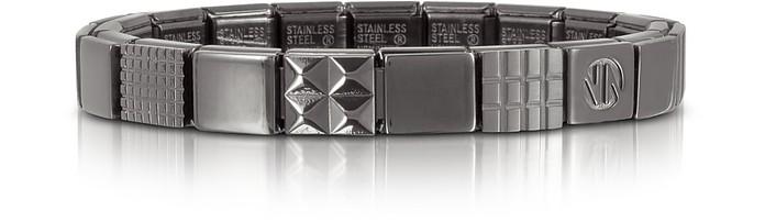 Steel Ikons Geometric Brushed Stainless Steel Bracelet - Nomination