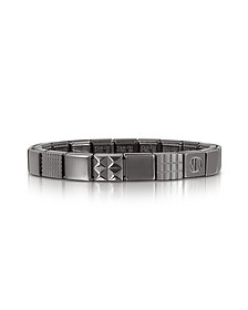 Steel Ikons Geometric Brushed Stainless Steel Bracelet