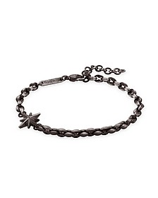 Black PVD Stainless Steel Men's Wind Rose Bracelet