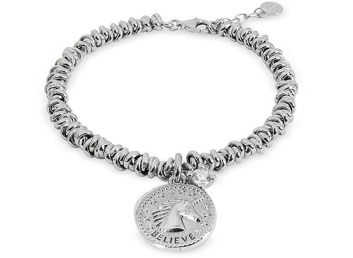 Sterling Silver Believe Charm Bracelet - Nomination
