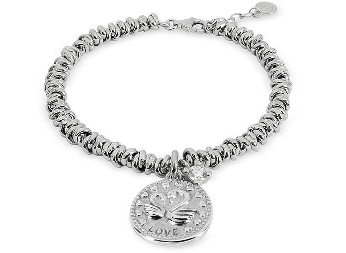 Sterling Silver Love Charm Bracelet - Nomination